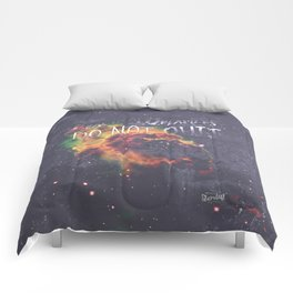 Space Inspirational Message for Practical Entrepreneurs Who Dream Big Comforters