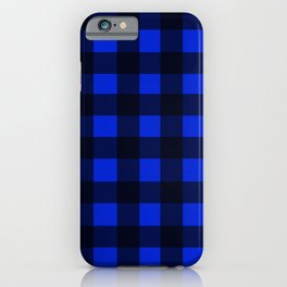 Blue Gingham ,checkered ,buffalo ,plaid pattern iPhone Case
