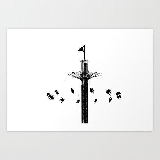 Way up high Art Print