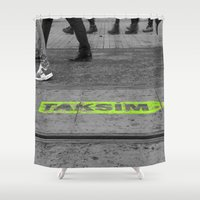 street Shower Curtains featuring street by habish