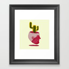 cactus man Framed Art Print