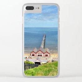 Saltburn Pier Clear iPhone Case