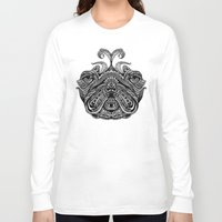 henna Long Sleeve T-shirts featuring Henna of Pugly by Huebucket