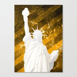 Liberty Gold Pop Art Canvas Print
