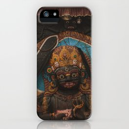 Temples and Architecture of Kathmandu City, Nepal 003 iPhone Case