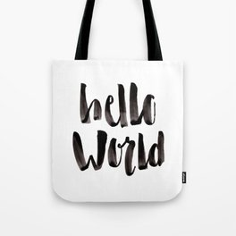 Hello World - Hand Lettering Tote Bag