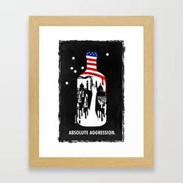 Absolute Aggression Framed Art Print