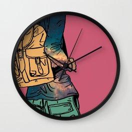 Galactic Drifter Wall Clock