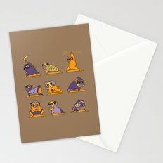 Pug Yoga Halloween Monsters Stationery Cards