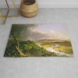 The Oxbow (Connecticut River near Northampton) by Thomas Cole Rug