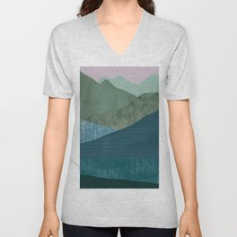 Mountain River #1 Unisex V-Neck