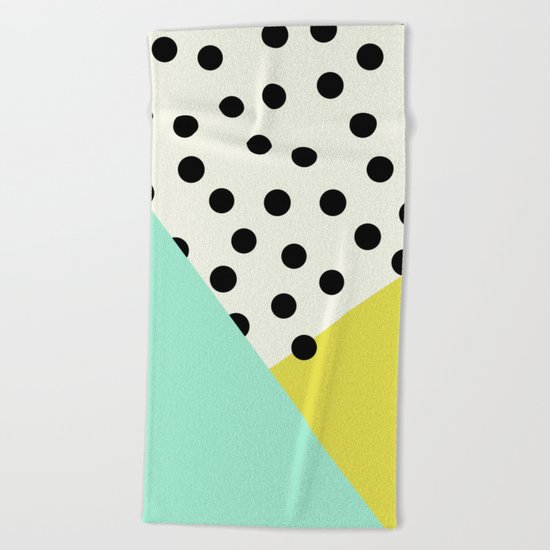 Mod dots and angles  Beach Towel