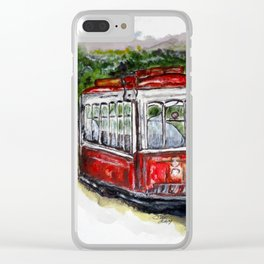 Abandoned Trolley Clear iPhone Case