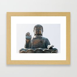 Tian Tan Buddha Framed Art Print
