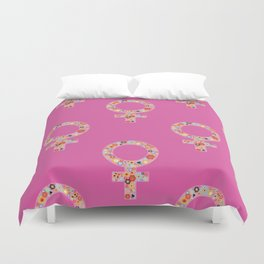 Fearless Female Pink Duvet Cover