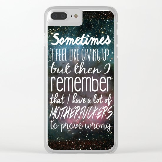 Prove Them Wrong Clear iPhone Case