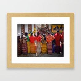 Paro Tsechu in Bhutan Framed Art Print