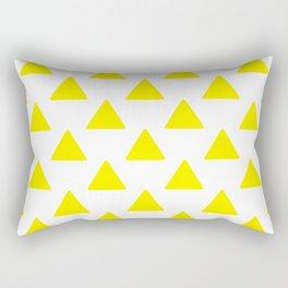 yellow triangles Rectangular Pillow