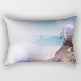 Alone on the Oregon Coast - 35mm Double Exposure Rectangular Pillow