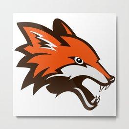 Angry fox illustration Metal Print