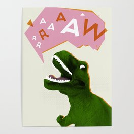 Dinosaur Raw! Poster