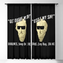 Diogenes Sunny  Philosophy Student Gift Blackout Curtain