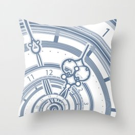 Alice watches 1. Time in Wonderland. Throw Pillow