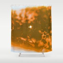 orange haze and white sunlight Shower Curtain