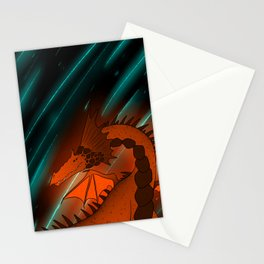 Rock Magma Dragon Stationery Cards