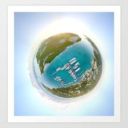 Tiny Planet Turks and Caicos Art Print