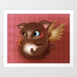 Cupid Kitty Art Print
