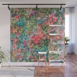 Colorful Variations of Spring Flowers Wall Mural