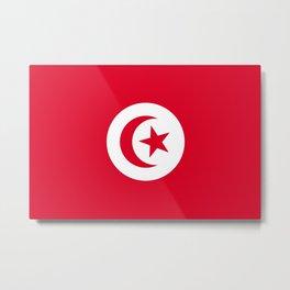 Flag of Tunisia Metal Print