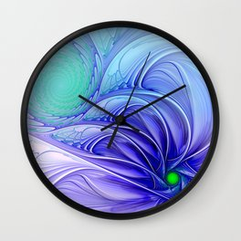 centered, turquoise and blue Wall Clock