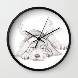 Bloodhound Puppy 1st XMAS Wall Clock