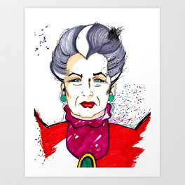 Lady Tremaine wicked step-mother Art Print