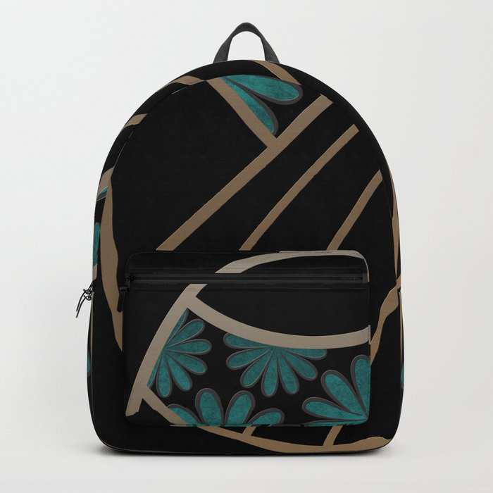 ART DECO FLOWERS (abstract) Backpack