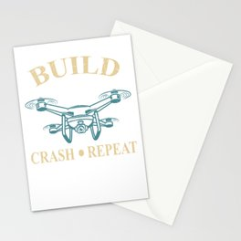 Build Drone Crash Repeat Stationery Cards