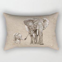 Swirly Elephant Family Rectangular Pillow