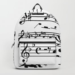 Cat Music Notes Clef Cats Lover Backpack