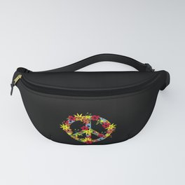 Flower Power Womens Hippie 70s 60s graphic for women. Fanny Pack