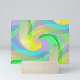 Soft Rainbow Abstract - Painterly Mini Art Print