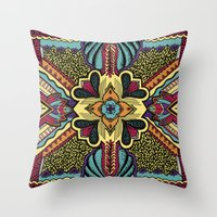 persian Throw Pillows featuring Persian by Guanabana