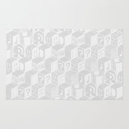 SUPER MARIO BLOCK-OUT! (White Edition) Rug