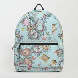 love Frequency in blue Backpack