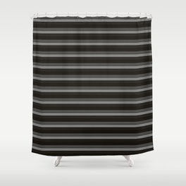 Black Ombre Stripes Shower Curtain