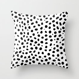 Black And White Cheetah Print Throw Pillow