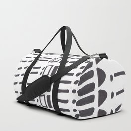 Ancient Tribal Marking Patterns Hand Drawn Pattern Symbols Shapes Black And White Duffle Bag