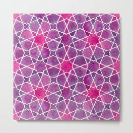 Watercolor - Islamic Geometry Metal Print