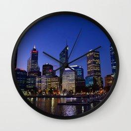 Perth by night Wall Clock